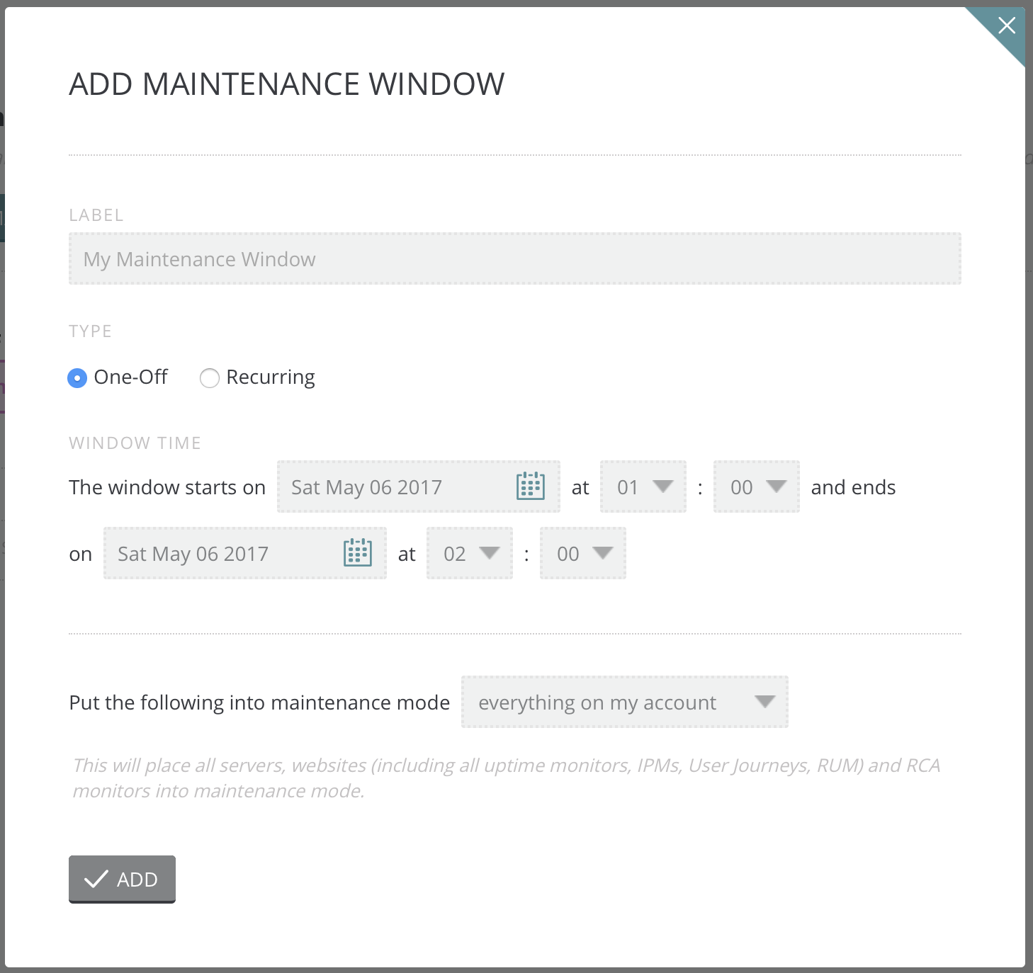 Maintenance Windows