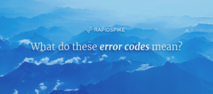 What do these error codes mean?