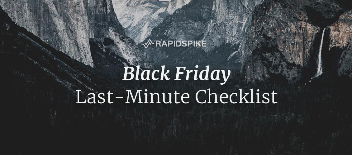 Black Friday Last-Minute Checklist