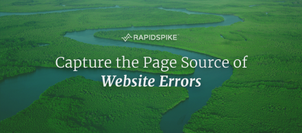 Capture the Page Source of Website Errors