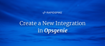 Create a New Integration in Opsgenie