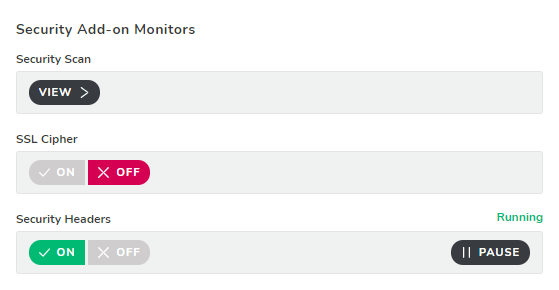 Security Add-on Monitors
