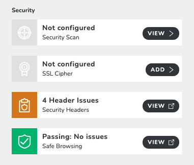 Security Headers Results