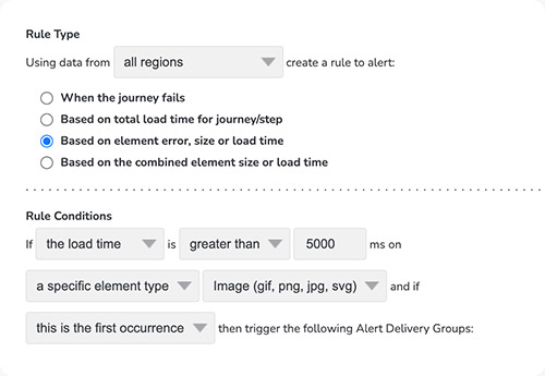 User journey rule type