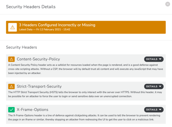Security Headers Issues