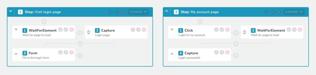 RapidSpike User Journey Script Editior - log in to account